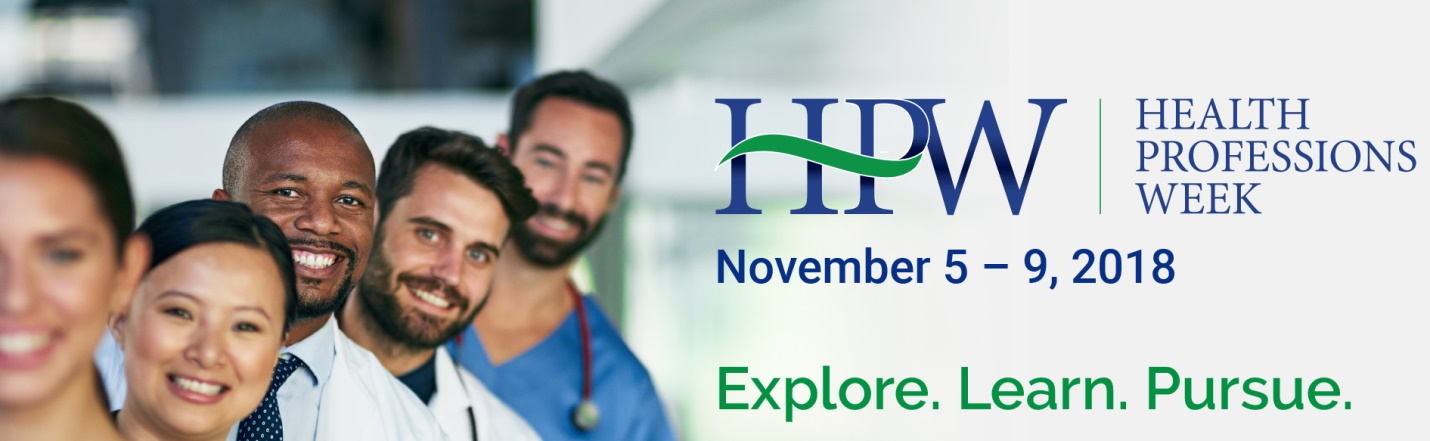 Health Professions Week 2017 November 6-10
